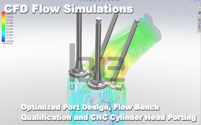 CFD Analysis and Flow Bench Testing for High Performance Engines